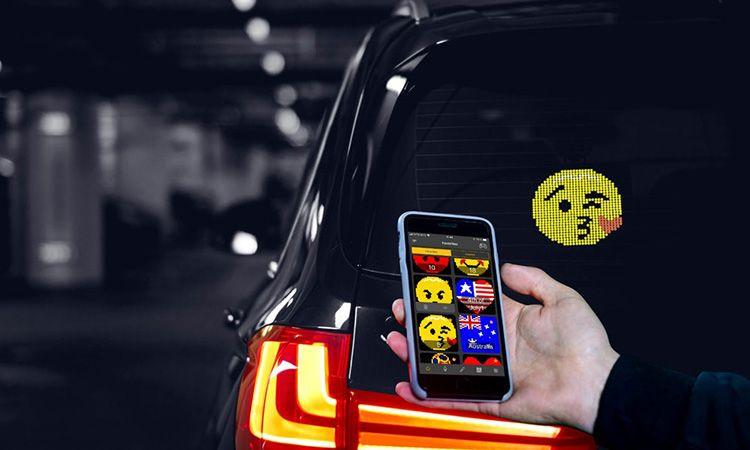 Mojipic ไอเทมใหม่ ใช้บอกความในใจกับรถคันหลัง