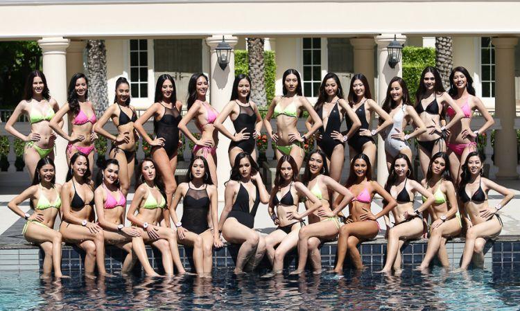อวดหุ่นสวย! 24 ผู้เข้าประกวดมิสไทยแลนด์เวิลด์ 2019 กับชุดว่ายน้ำ